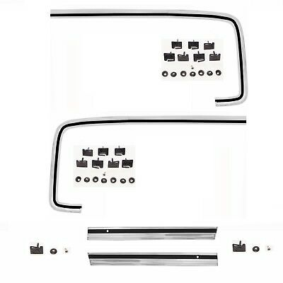 73-80 Chevy Pickup Truck Fender Molding Upper+Lower+Left+Right Side 4 Pieces Set