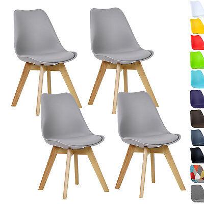 Esszimmerstühle 4 x Esszimmerstuhl Design Stuhl Küchenstuhl Holz Grau BH29gr-4