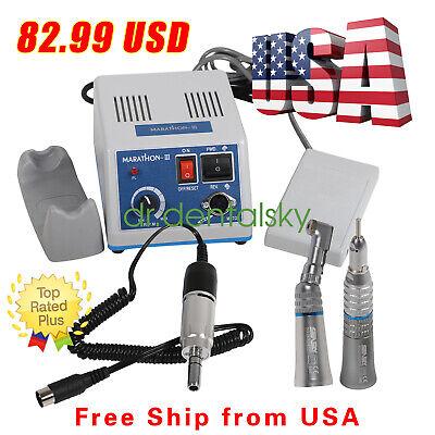 Dental Lab Marathon Micro Motor 35k Rpm Straight Handpiece Contra Angle Usa Or