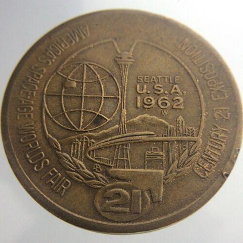 Americas Space Age Worlds Fair Seattle USA 1962 Trade Dollar W712
