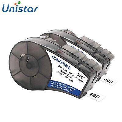 Compatible Brady High Adhesion Cloth Label Tape M21-750-499 Nylon 0.75 Width