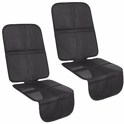 2x Kindersitzunterlage mit 10mm Polster   ISOFIX-geeignete Autositzauflage, lang
