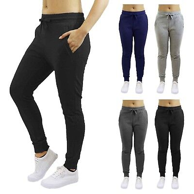 (Womens Jogger Pants Loose Fit French Terry Cotton Blend Lounge Sweatpants 2-PACK)