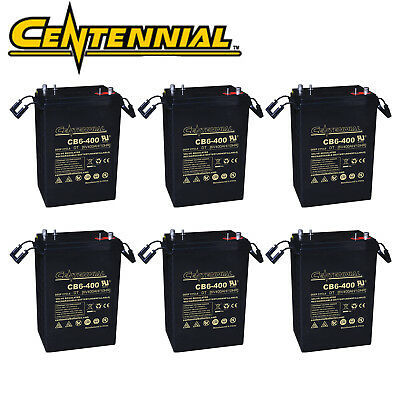 Used, 6x Centennial CB6-400 6V 400A L-16 AGM Batteries For Work Platforms Golf Carts for sale  North Las Vegas