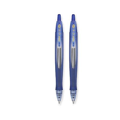 Pilot G6 Retractable Gel Pen 0.7mm Fine Point Blue Ink Blue Barrel 2-count