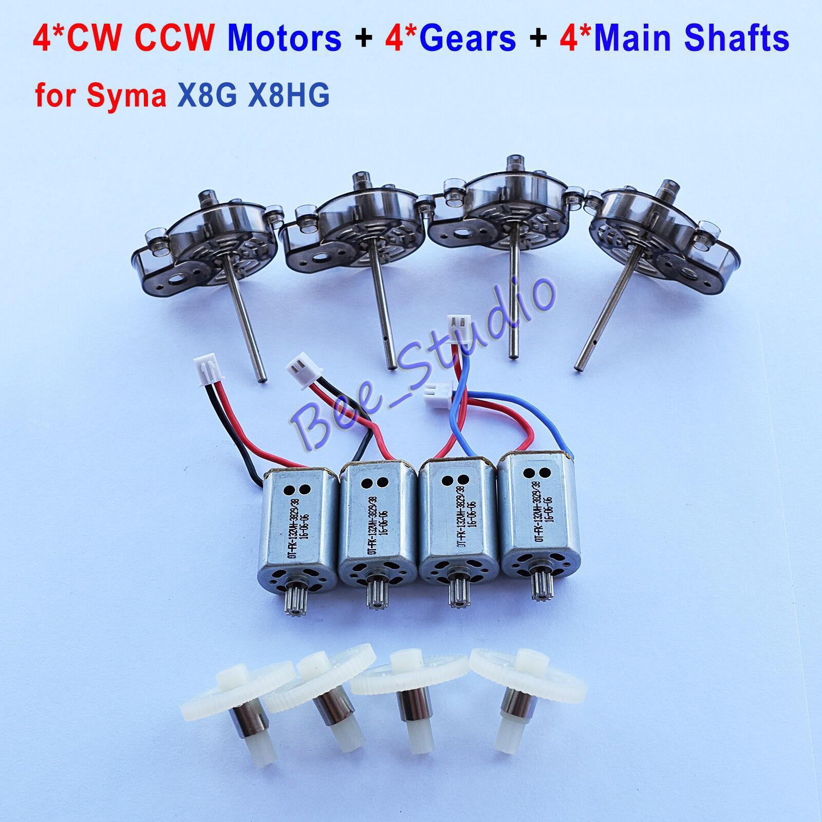 4pcs Original Main Shafts Gears Cw Ccw Motors Syma X8g X8hg Drone X8hc X8hw Remote Control Quadcopter Rc Circuit Board 2 X 4