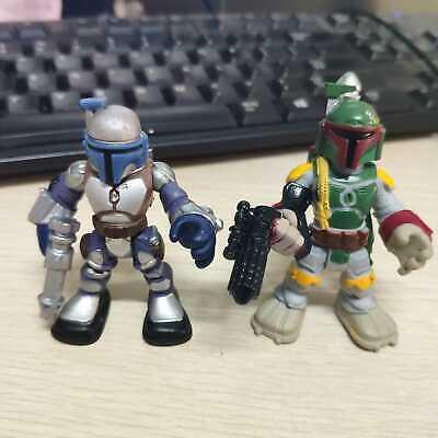 2pcs Playskool Star Wars Galactic Heroes  BoBa Fett & Jango Fett Bounty -