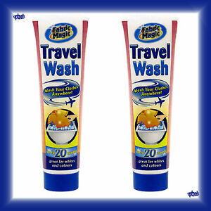 2 x Fabric Magic Clothes Laundry Camping Travel Wash