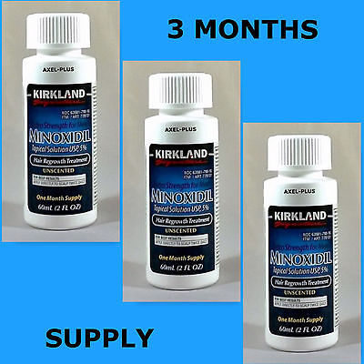 Kirkland Minoxidil 5  Extra Strength Men Hair Regrowth Solution 3 Month Supply