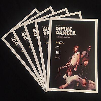 (5) promo GIMME DANGER postcards-STOOGES iggy pop JIM JARMUSCH asheton--mint NEW