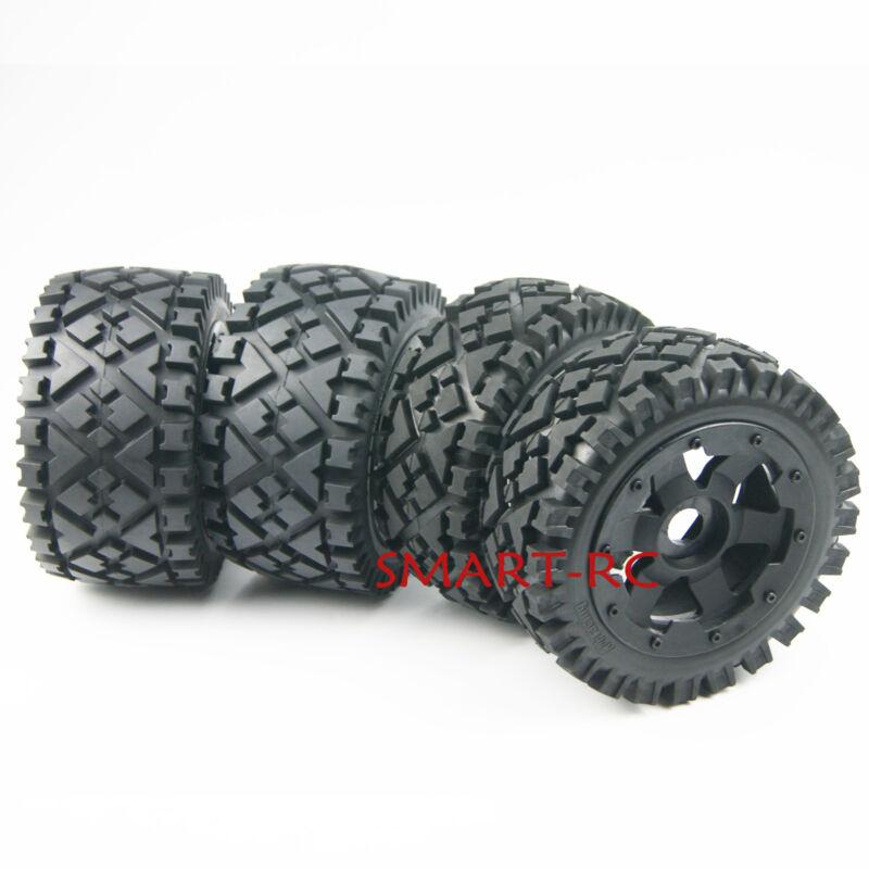 4pcs Front Rear All Terrain Tire Wheel for 1/5 HPI ROVAN KM BAJA 5B US