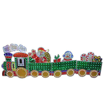 Northlight 4-Piece Holographic LED Motion Train Set Outdoor Christmas Decoration
