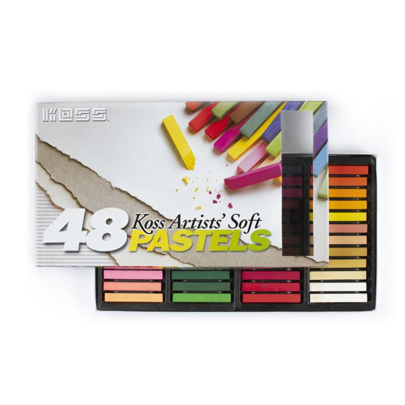 Koss International - (3 Sets) 48 Color - Soft Pastel Chalks