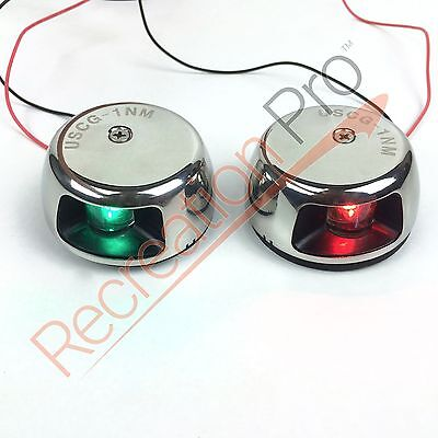 Perfit 12v LED Horizontal Deck Mount Navigation lights 1NM for boat/pontoon