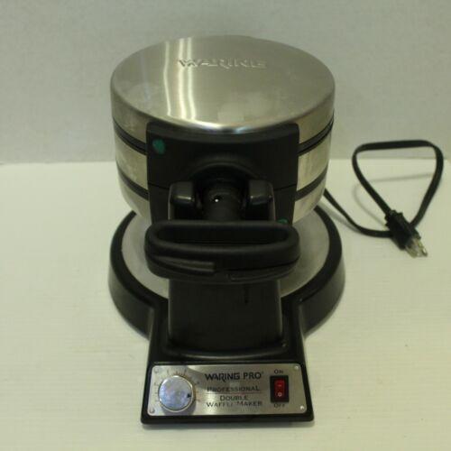 Waring Pro Double Waffle Maker Iron WMK600 Stainless Black Belgian Tested