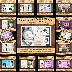 30 FOTO-Danksagung Danksagungskarten Hochzeit /Kommunion / Geburt u. Taufe