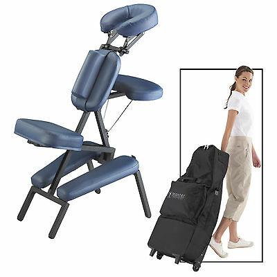 Master Massage Professional Portable Lightweight PU Leather Chair Package