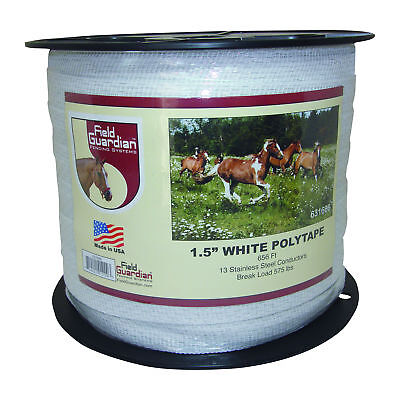 Field Guardian 1.5 White Polytape Electric Fence 631666 814421012203