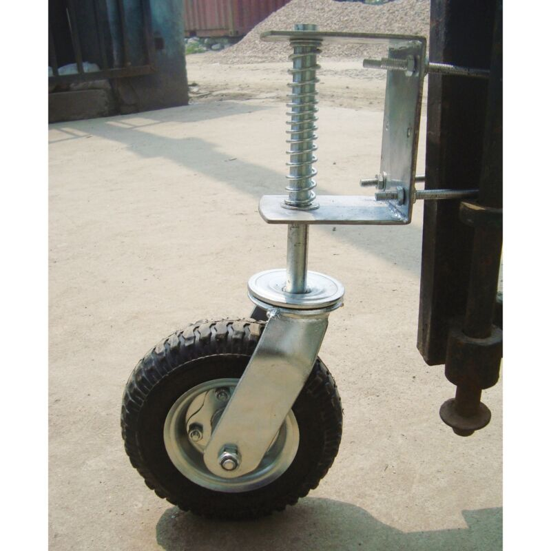 Gate Wheel w/Suspension- 210-lb Cap 8in Pneumatic Tire CT-GW01