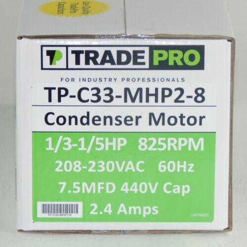 TP-C33-MHP2-8 Multi-Horsepower Condenser Motor, 1/3 - 1/5HP, 208/230v