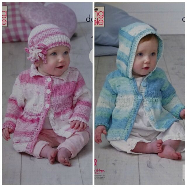 King Cole Double Knitting Pattern 5102 Coats And Hat 16 26 In Easy