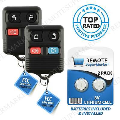 2pcs Replacement Keyless Remote Key Fob For 2006 2007 2008 2009 2010 Ford Focus