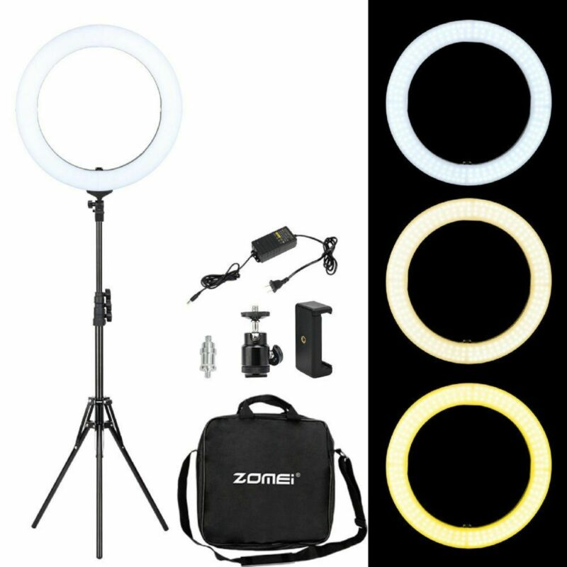 "ZOMEI 18"" Dimmable Lighting Photography LED Light with Stand 58W 5500K YouTube"