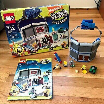 LEGO Spongebob Squarepants 4981 The Chum Bucket, Complete w Manual and Box