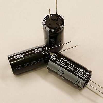10pcs Nichicon 2200uf 50v 20 Radial Capacitors