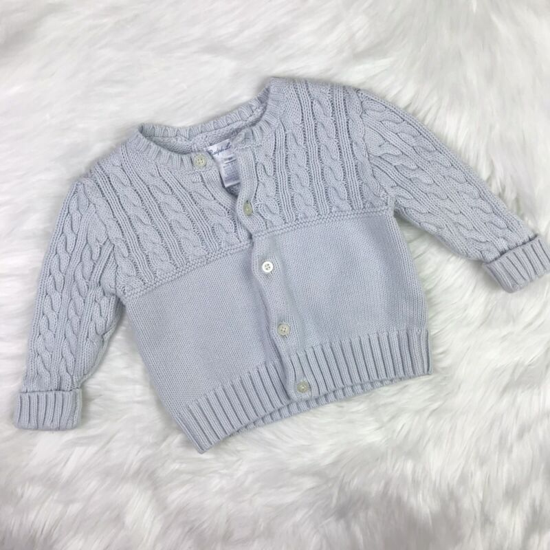 Baby Girl Chunky Cable Knit Button-Down Sweater