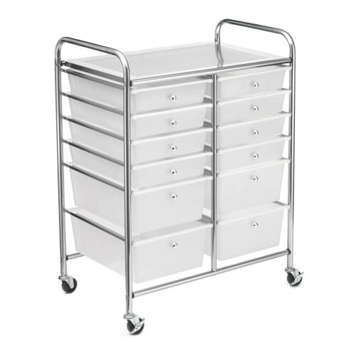 Clear 12 Drawer Rolling Cart by Simply Tidy