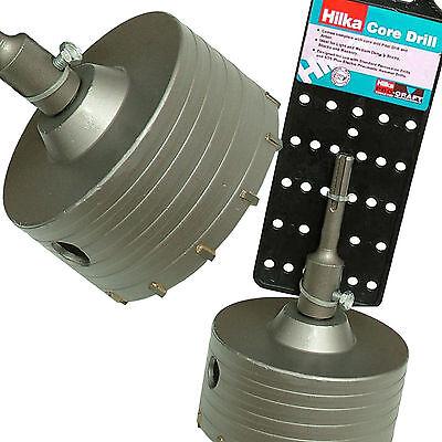 Hilka 110mm Core Drill Inc sds+ arbor pilot drill TCT masonry brick Hole Cutting
