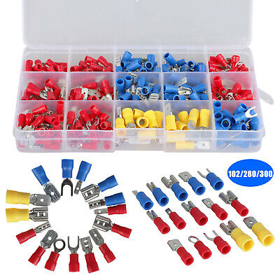 102280300x Insulated Assorted Electrical Wiring Connectors Crimp Terminals Set