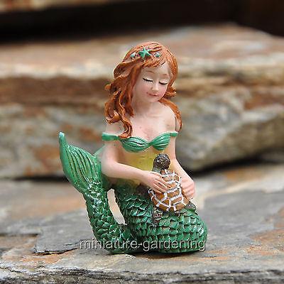 Miniature Fairy Garden Mermaid and Turtle