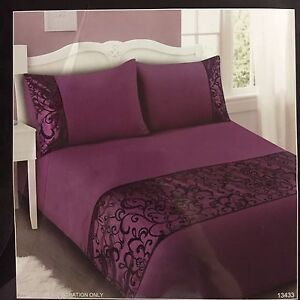 KING Quilt Cover Set - Purple & Black pattern Lidcombe Auburn Area Preview