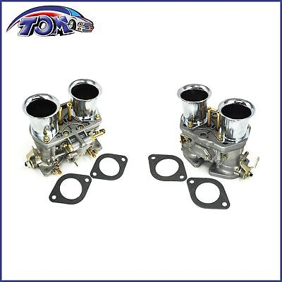 2Pcs Carburetor Set For Volkswagen Beetle 44 IDF Weber 2 BARREL Jaguar Porsche