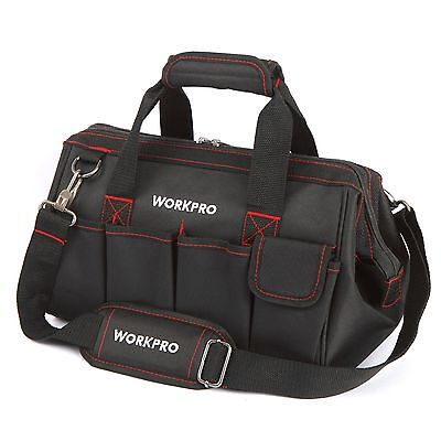"""WORKPRO 14""""Storage Tool Bag Backpack Top Strap Thicken Multifuntional Heavy Duty"""
