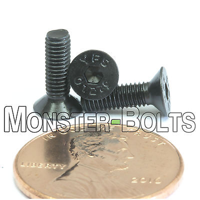 (10) M3 x 10mm - Flat Head Socket Caps Screws 12.9 Alloy Steel Blk Ox DIN 7991