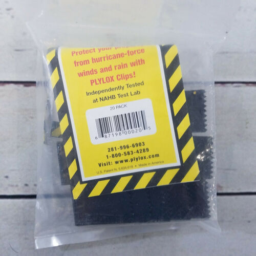 """PLYLOX 1/2"""" Plywood Hurricane Window Clips 20 Pack"""