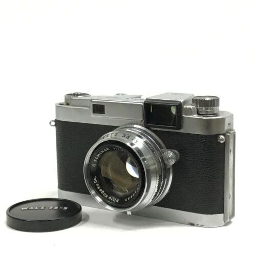 Vintage Walz 35-S Kominar f/1.9 4.8cm 48mm Rangefinder Film Camera GOOD TK05I