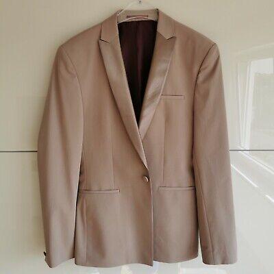 Herren ASOS Smoking Blazer Anzugjacke Beige Rosa Rosé Gr. 50 M/L Anzug Casino