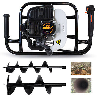 52cc 2.4hp Gas Powered Post Hole Digger W Earth Auger Drill Bit 6 10 Digger