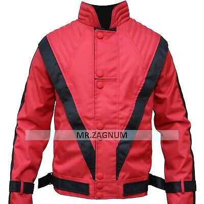 Stock Clearance 70% off , Cordura jacket Thriller , RED Michael Jackson Jacket (Michael Jackson Red Jacket)