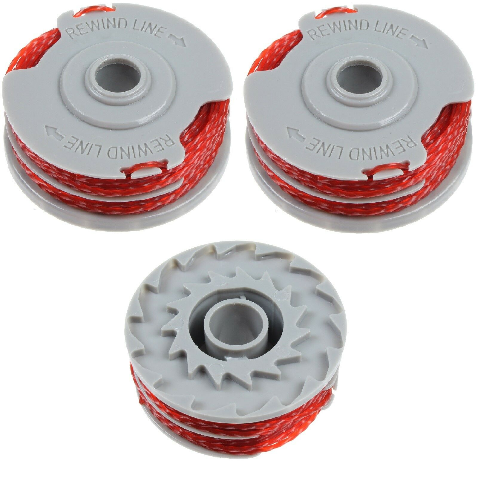 3 x Strimmer Trimmer Spool /& Line For Flymo CTXT25 ET23+DX ET25+DX MET230 Twin