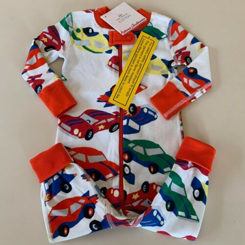 "HANNA ANDERSSON Cute Baby Boys ""CARS"" Pajama, 6-12 Months. 70 cm. Soft-Comfy!"