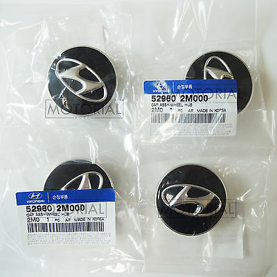 HYUNDAI GENESIS COUPE 2008-2015 Genuine OEM Wheel Center Hub Cap 4EA 1Set