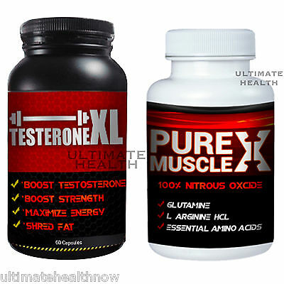 1 TESTERONEXL Best Testosterone Booster 1 PURE MUSCLE X Nitric Oxide