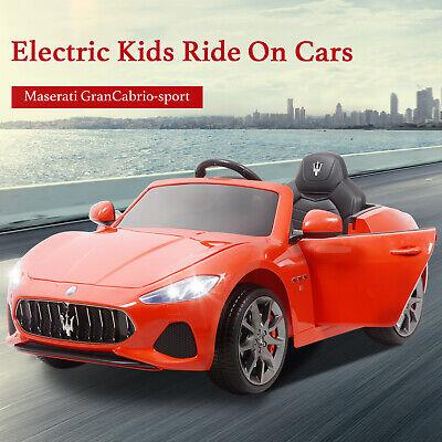 12V Kid Ride On Toy Car Electric Battery Remote Control Red Maserati Gran Cabrio