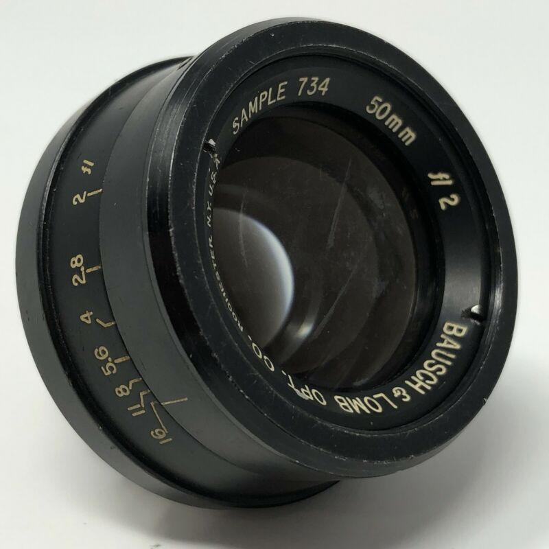 Bausch Lomb Sample 734 - Prototype 50mm f/2 lens (Possible Baltar?)