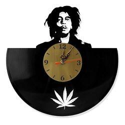 NEW  Vinyl Record Wall Clock Bob Marley, modern decorative art ~ 12